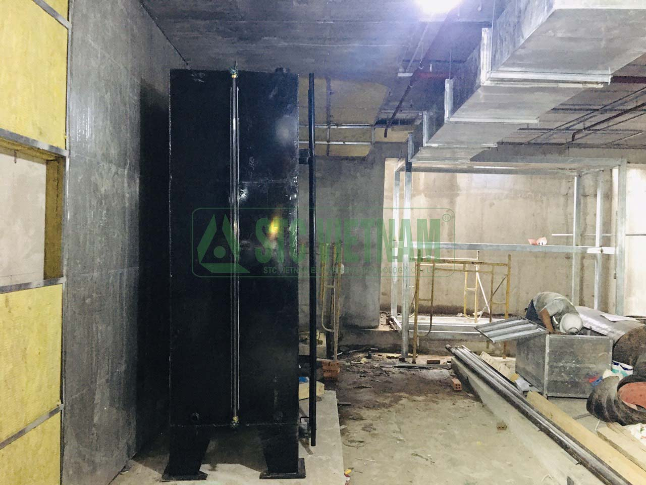 Soundproof room for generator
